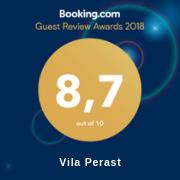 Vila Perast 2018 – booking award